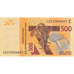 Burkina-Faso - Pick 319Ca - 500 francs - 2012