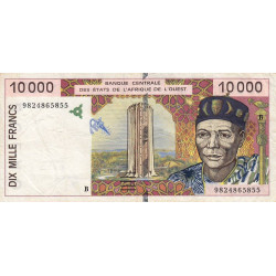 Bénin - Pick 214Bg - 10'000 francs - 1998