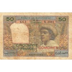 Comores - Pick 2b - 50 francs