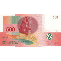 Comores - Pick 15 - 500 francs