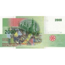 Comores - Pick 17 - 2'000 francs