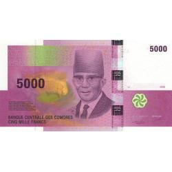 Comores - Pick 18 - 5'000 francs