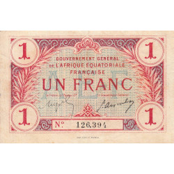 AEF - Pick 2a_1 - 1 franc