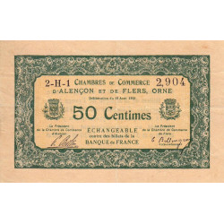 Alençon / Flers (Orne) - Pirot 6-16 - 50 centimes - Etat : TTB