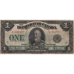 Canada - Pick 33a - 1 dollar - 1923 - Etat : B+