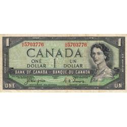 Canada - Pick 66a - 1 dollar - 1954 - Etat : TB