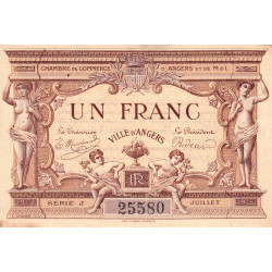 Angers (Maine-et-Loire) - Pirot 8-6b - 1 franc - Etat : TB-