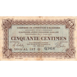 Auxerre - Pirot 17-12 - 50 centimes