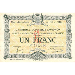 Avignon - Pirot 18-5a - 1 franc - 1915 - Etat : TTB+
