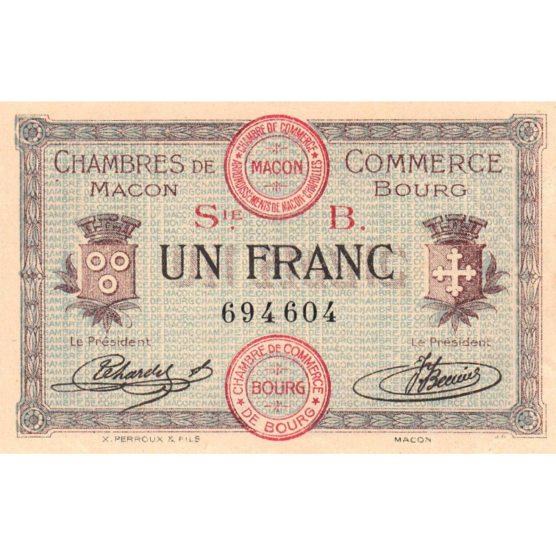 Macon / Bourg - Pirot 78-6 - 1 franc