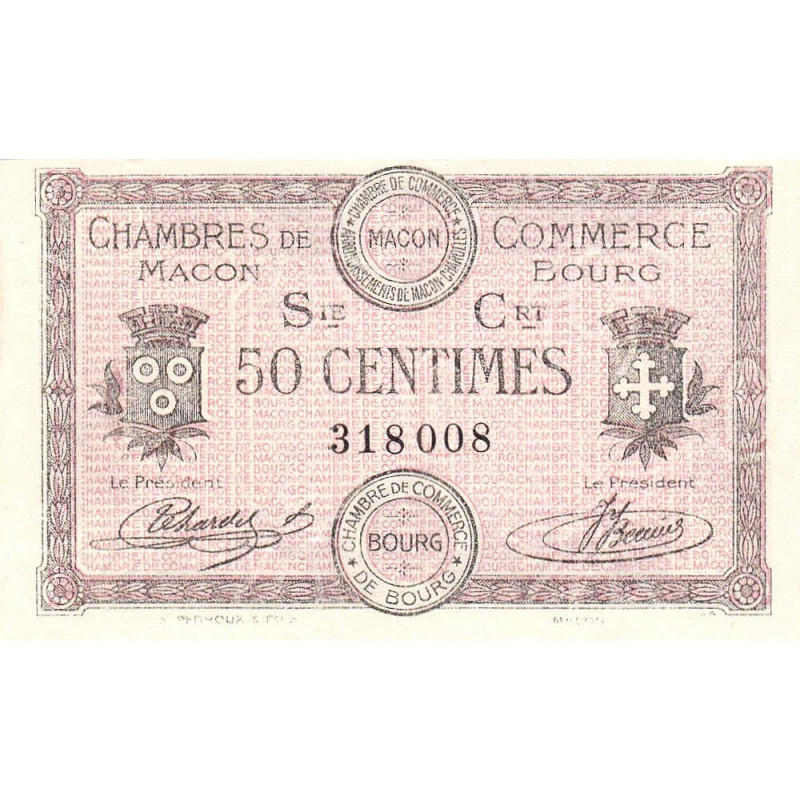 Macon / Bourg - Pirot 78-7 - 50 centimes - Etat : NEUF