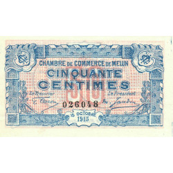 Melun - Pirot 80-1b - 50 centimes