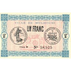 68 Mulhouse (Ville de) - Pirot 132-2 - 1 franc - Etat : NEUF