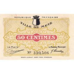 57-nr Metz (Ville de) - Pirot 131-1c - 50 centimes - Etat : SUP+