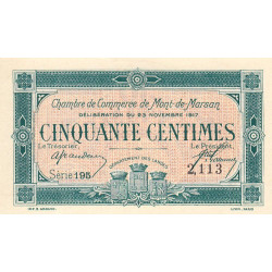 Mont-de-Marsan (Landes) - Pirot 82-25 - 50 centimes - Etat : NEUF