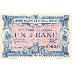 Mont-de-Marsan (Landes) - Pirot 82-35 -1 franc - Etat : SPL