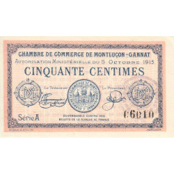 Montluçon / Gannat - Pirot 84-13 - 50 centimes - Etat : SPL+