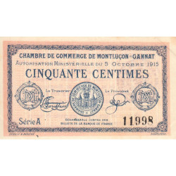 Montluçon / Gannat - Pirot 84-13 - 50 centimes