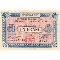 Moulins / Lapalisse - Pirot 86-9b - 1 franc