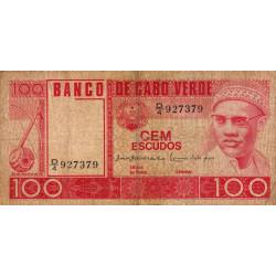 Cap-Vert - Pick 54a - 100 escudos - Etat : TB
