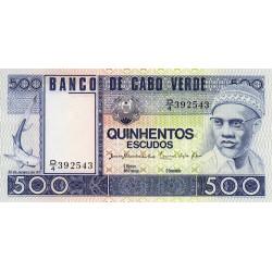 Cap-Vert - Pick 55a - 500 escudos - Etat : NEUF
