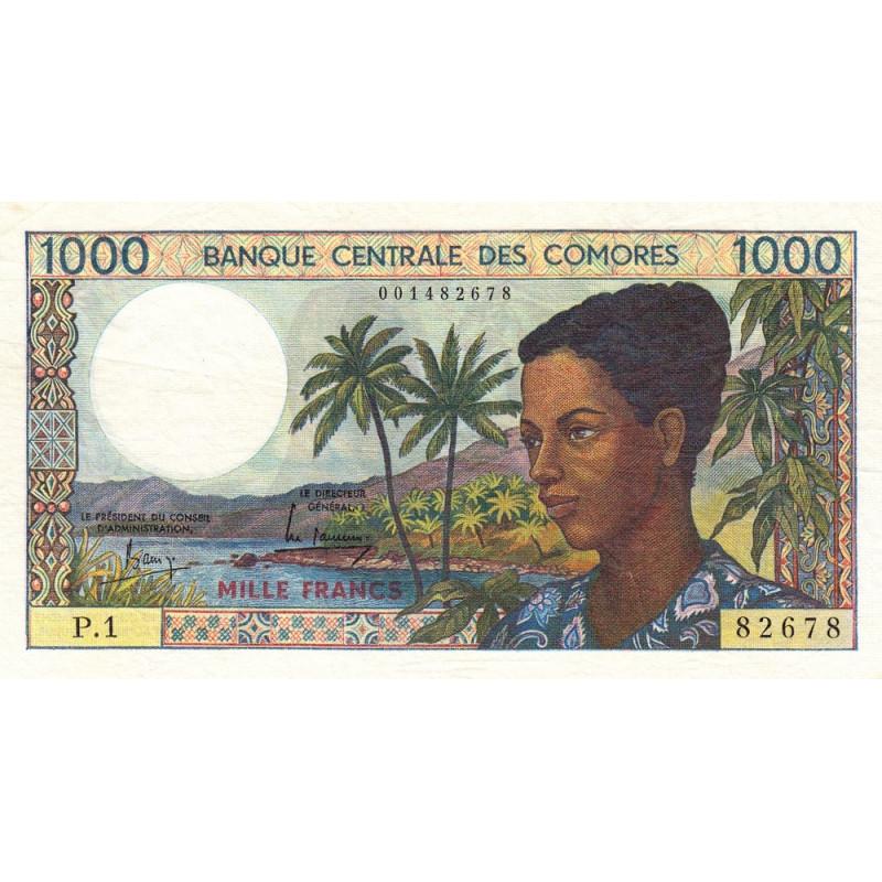 Comores - Pick 11a - 1'000 francs