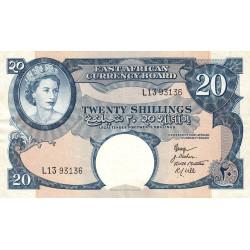 Afrique de l'Est Anglaise - Pick 39 - 20 shillings - 1958
