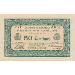 Alençon / Flers (Orne) - Pirot 6-3 - 50 centimes - Etat : SPL