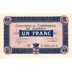 Nancy - Pirot 87-11 - 1 franc - Etat : NEUF