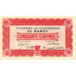 Nancy - Pirot 87-12 - 50 centimes - Etat : SPL