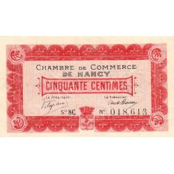 Nancy - Pirot 87-16 - 50 centimes - Etat : TTB+
