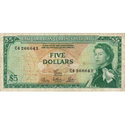 Etats de l'Est des Caraïbes - Pick 14e - 5 dollars - 1968 - Etat : TB