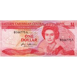 Est Caraïbes - Antigua - Pick 17a - 1 dollar - 1986 - Etat : TB+