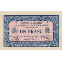 Alençon / Flers (Orne) - Pirot 6-4 - 1 franc