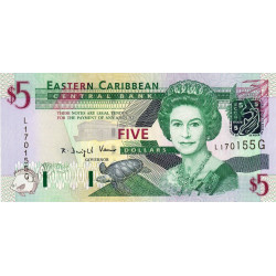 Est Caraïbes - Grenade - Pick 42g - 5 dollars - 2003 - Etat : NEUF