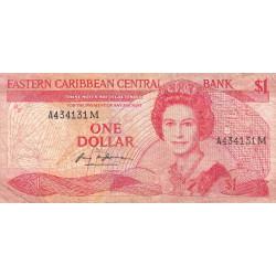 Est Caraïbes - Montserrat - Pick 21m - 1 dollar - Etat : B+