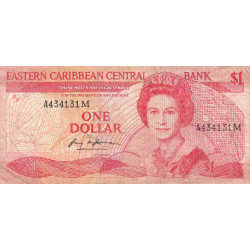 Est Caraïbes - Montserrat - Pick 21m - 1 dollar