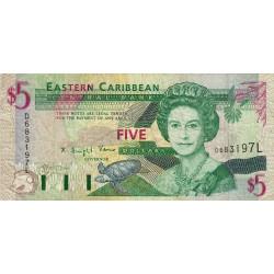 Est Caraïbes - Sainte Lucie - Pick 31l - 5 dollars - 1994 - Etat : TB