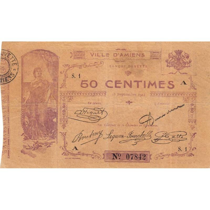 80-Amiens (Ville d') - Pirot 7-1- 50 centimes