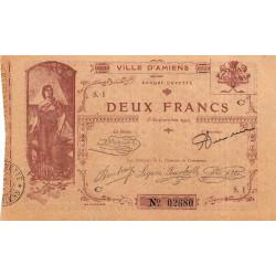 80 - Amiens (Ville d') - Pirot 7-3- 2 francs - Etat : TTB