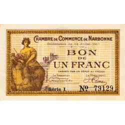Narbonne - Pirot 89-15 - 1 franc - Etat : SPL