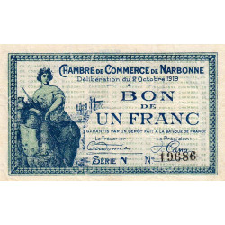 Narbonne - Pirot 89-18 - 1 franc - Etat : TTB