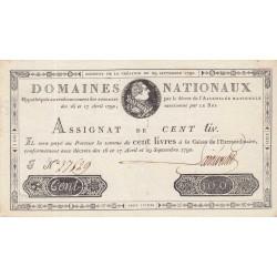 Assignat 09a - 100 livres - 29 septembre 1790 - Etat : SUP