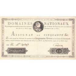 Assignat 13a - 50 livres - 19 juin 1791 - Etat : SUP
