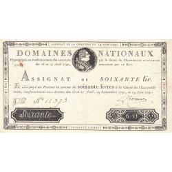 Assignat 14a - 60 livres - 19 juin 1791 - Etat : SUP
