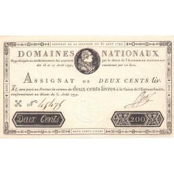 Assignat 33a - 200 livres - 31 août 1792 - Etat : SPL-