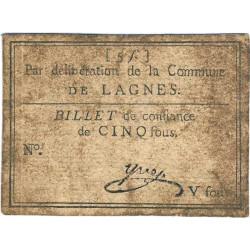 Bouche du Rhône - Lagnes - Kolsky 13-071 - 5 sous - Etat : TB