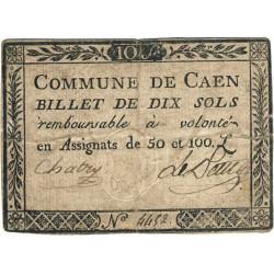 Calvados - Caen - Kolsky 14-026 - 10 sols - Etat : TB+