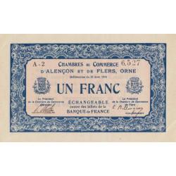 Alençon / Flers (Orne) - Pirot 6-15 - 1 franc - 1915 - Etat : SPL
