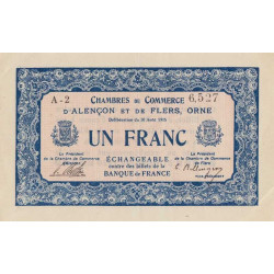 Alençon / Flers (Orne) - Pirot 6-15 - 1 franc